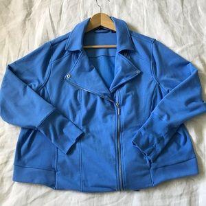 H by Halston // Moto Jacket Blue Size 22W